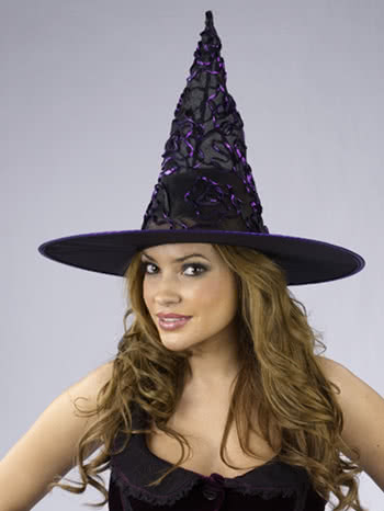 Witch Hat with Purple Glitter