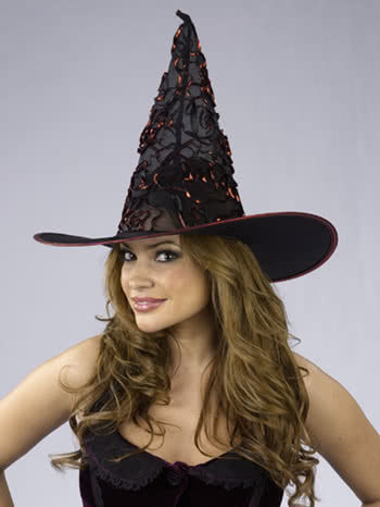 Witch Hat with Red Glitter