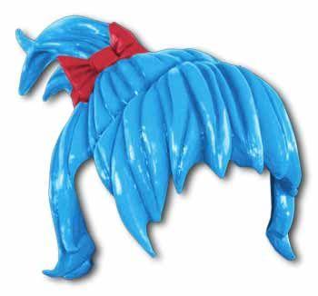 Anime wig braid blue