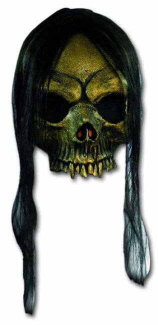 Golden Skull Half Mask