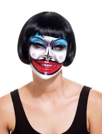 Crazy Mouth Clown PVC Maske