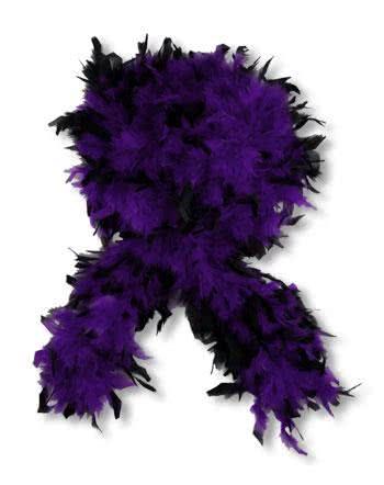 Deluxe Boa Black Purple
