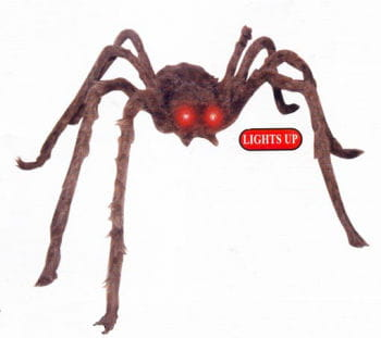 Brown Monster Spider with LED Eyes