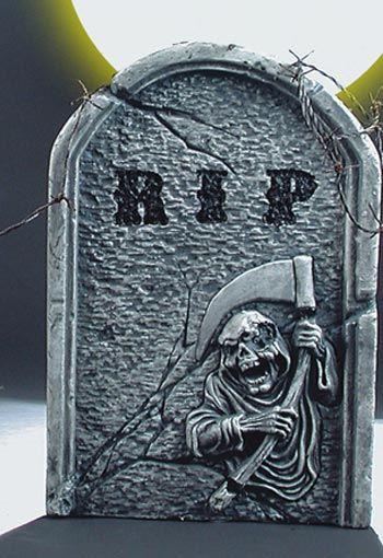 Grim Reaper Tombstone Grey