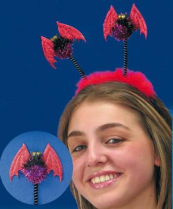 Haarreif pinke Fledermaus