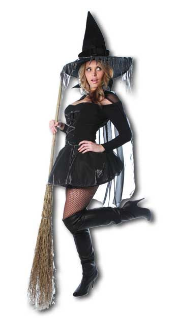 Sexy Glimmer Hexe Kostüm Gr. XL / 40-42