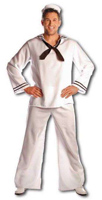 Matrosen Kostüm mit Mütze Premium