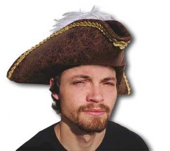 Antique Pirate hat / tricorne