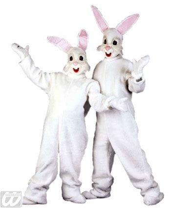 Plüsch Hasen Kostüm weiß