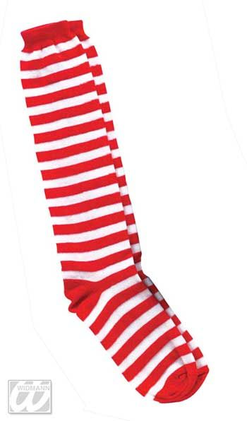 Striped striped socks red white
