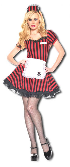 Nightclub Waitress Premium Costume. M