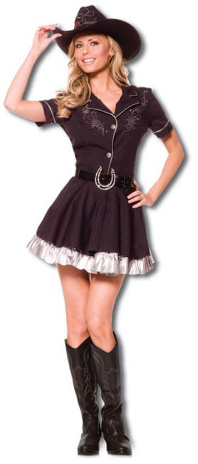 Cowgirl costume with cowboy hat XL
