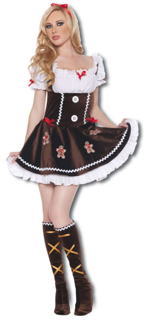 Delikate Lebkuchenfrau Premium Kostüm Large