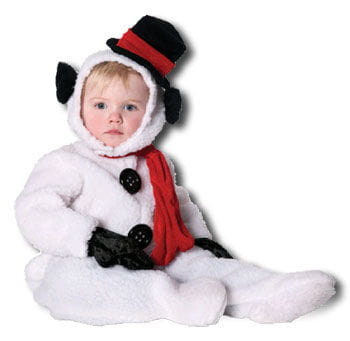 Fluffy Snowman Child Costume XL