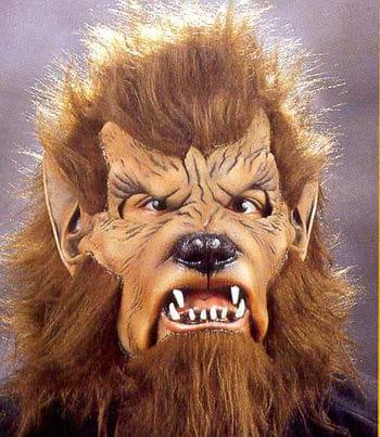 Wolfman Halloween Maske