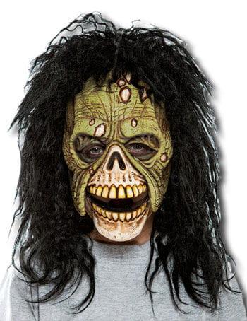 Zombie Kindermaske grün
