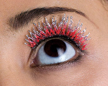 Glitter Eyelashes Red