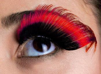 Sprung eyelashes Black / Red