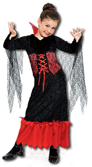 Vampire Queen Child Costume Size L