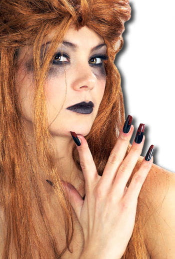 Fingernails black bloody