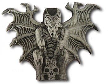 Gargoyle on Skull wall decoration