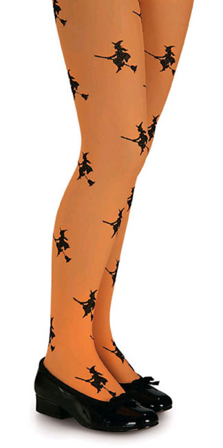 Children tights with witch motifs L