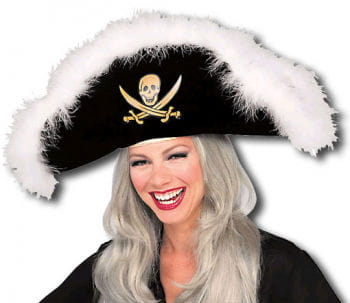 Pirate Hat with Marabou Feathers