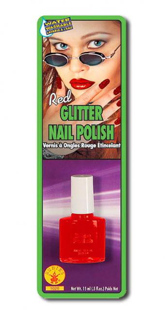 Glitter Nagellack rot