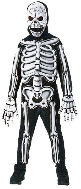 Skeleton Kids Costume 3D M