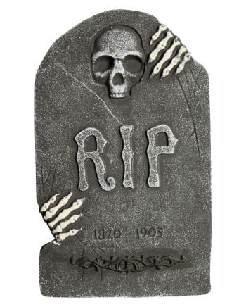 Grave stone skull with skeleton hands