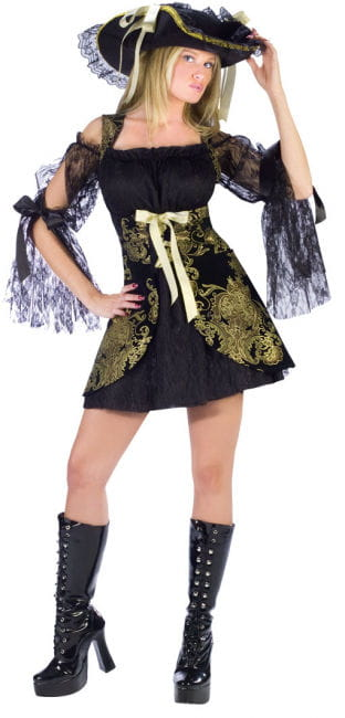 Pirate Bride Gold Brocade Costume Size M