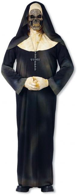 Zombie Ordensschwester Kostüm mit Maske