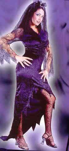 Schwarze Witwe Kostüm Gr. 36-38 S/M