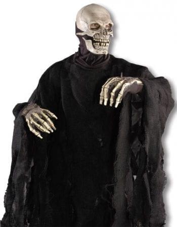 Totenhemd Jute schwarz