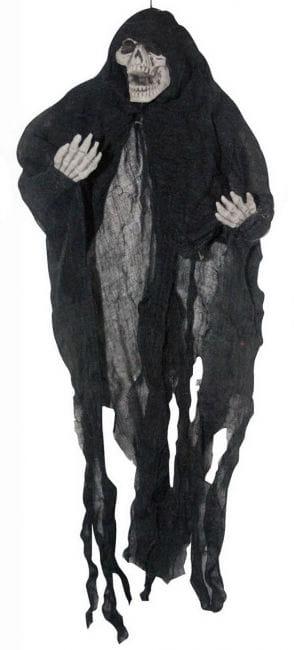 Gruseliges Hängeskelett schwarz