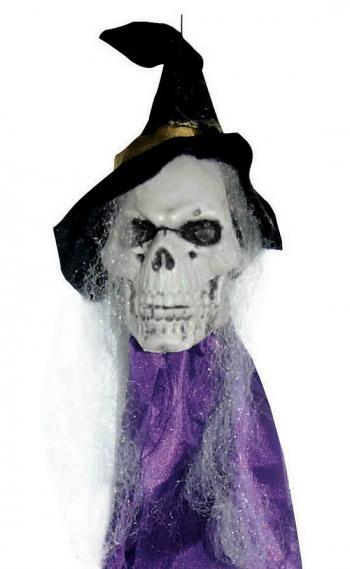 Hanging Skull Witch Skull