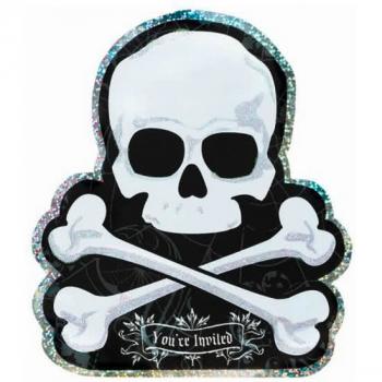 Halloween Skull Invites