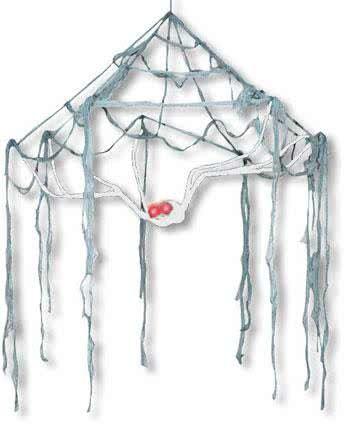 Spinnweben Baldachin weiße Spinne