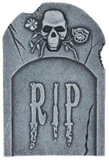 Grabstein Skull & Rosen 40 cm