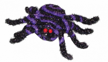 Little Glittering Spider Black and Purple