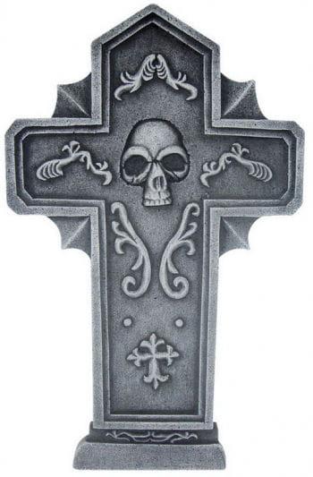 Grave stone cross Skull