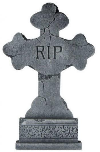 Grave stone cross RIP