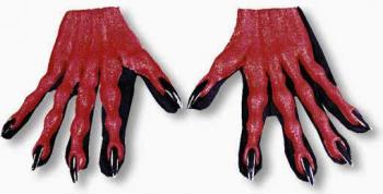 Rote Teufels Handschuhe