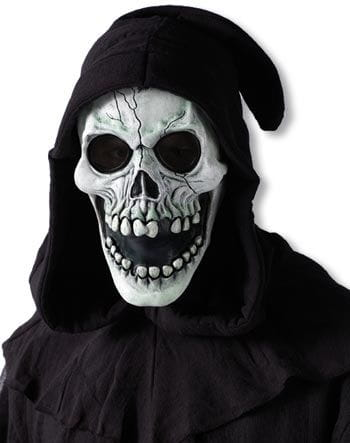 Hooded Skull Mask White