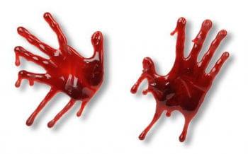 blutiger 3D Handabdruck