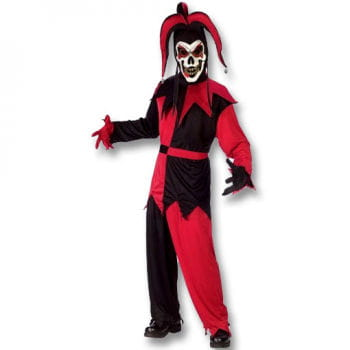 Jester Clown Costume Black / Red