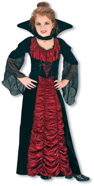Taffeta Vampiress Witch Child Costume Size M