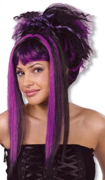 Punk Vampire Wig Black Violet
