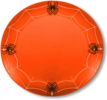 Cobwebs Place plate with spinning orange