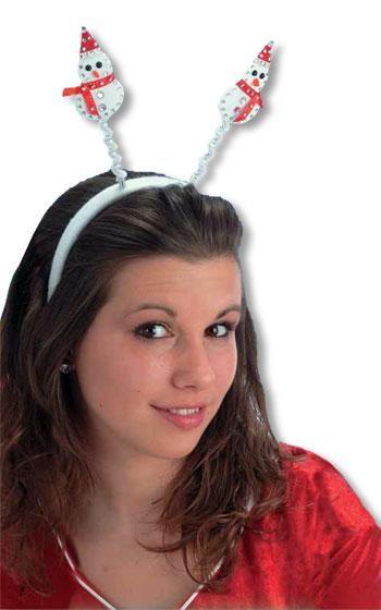 White Snowman Headband